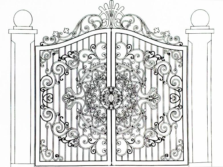 Hoa văn cổng 10