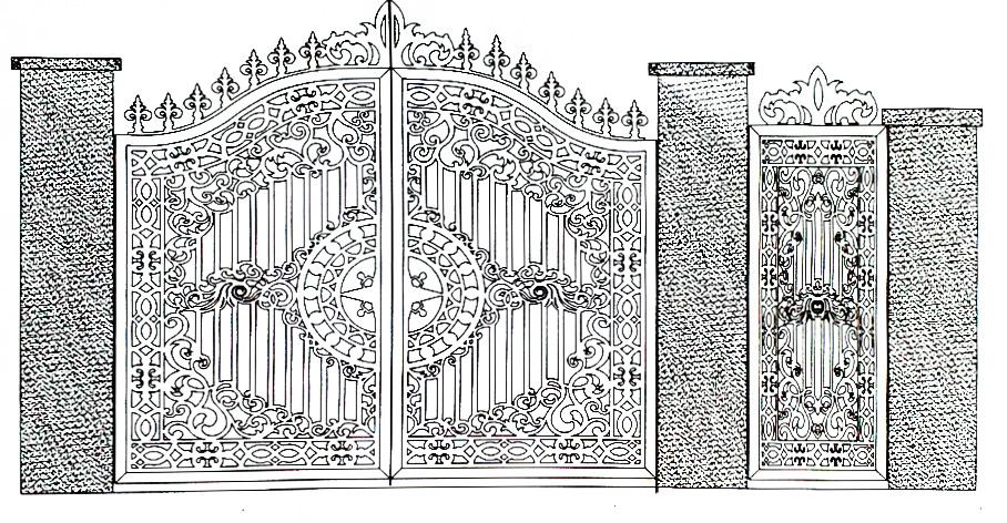 Hoa văn cổng 4