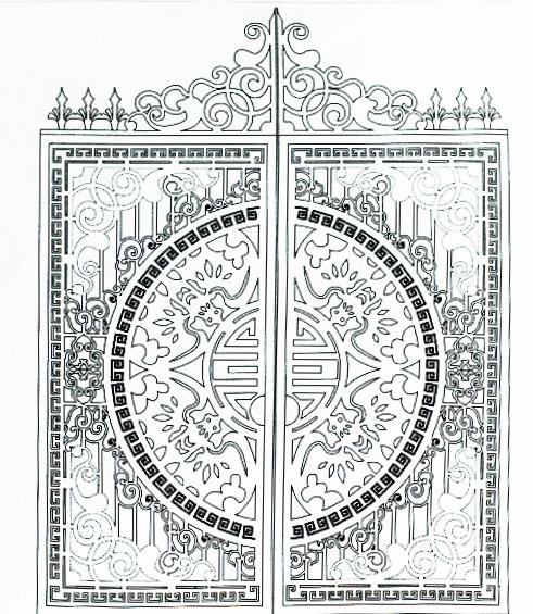 Hoa văn cổng 9